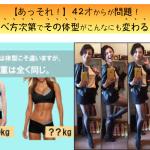 更年期対策42才からが問題!食べ方次第でその体型がこんなにも変わる!