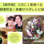 【保存版】3日に1度食べる私の美養酵素貯金サラダレシピ紹介!