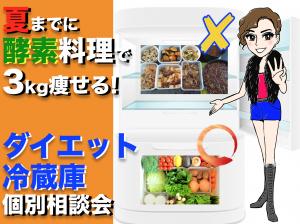 夏までに酵素で3Kg痩せるダイエット冷蔵庫に変える個別相談会